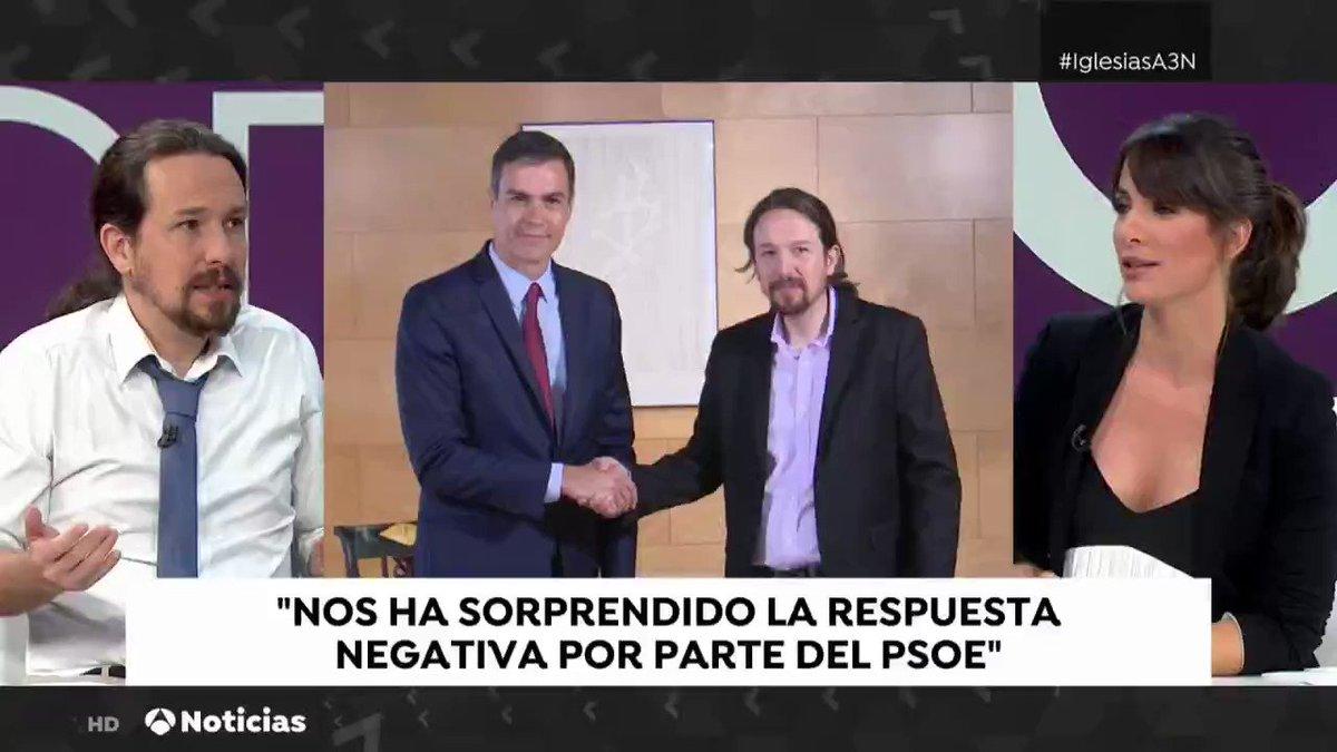 No se puede dejar todo para el último minuto. Pedro Sánchez se equivocaría si hace caso a los que le enseñan las encuestas y lleva a los españoles a elecciones otra vez #IglesiasA3N