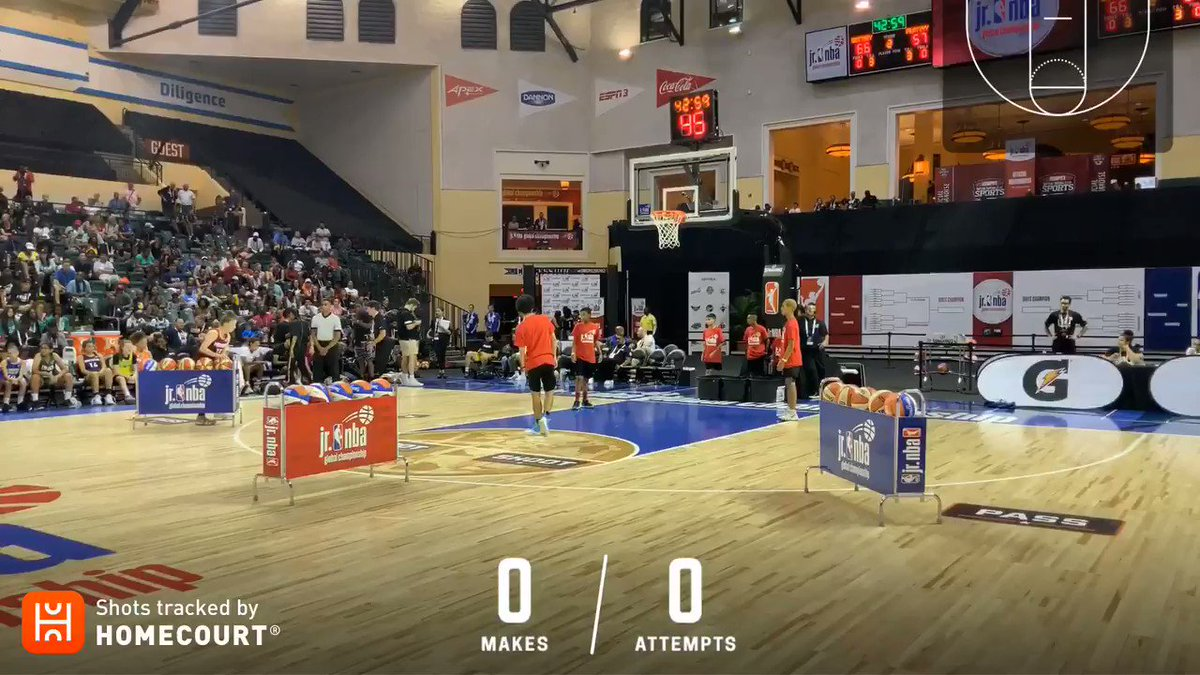 Gracie Barnes had an impressive final round to win the 3-Point Contest during Skills Night at the #JrNBAGlobalChampionship! 👏  Check out her round using @homecourtai! 👀