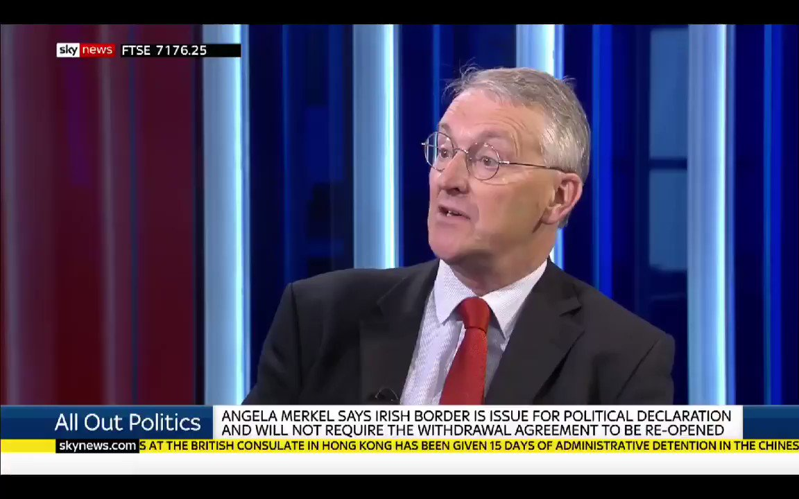 Hilary Benn - This is not a pantomime... this is about the future of our country. No government, in my lifetime, has ever put forward a policy(#NoDeal) that they know will damage our economy.. & Johnson says hes prepared to do this. #alloutpolitics #r4today @hilarybennmp