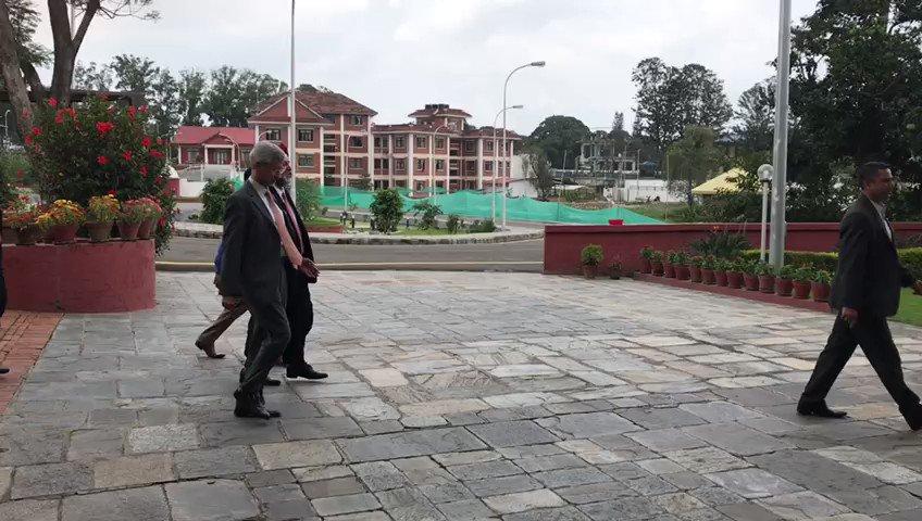 External Affairs Minister @DrSJaishankar calls on Prime Minister of Nepal K P Sharma Oli in #Kathmandu
