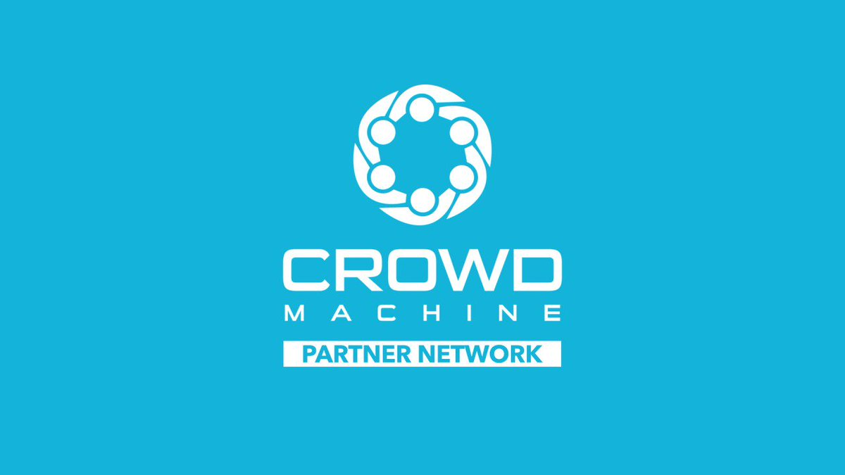 Image for the Tweet beginning: Partner with Crowd Machine, the