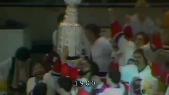 RT @hockeyfights: Every Stanley Cup celebration from 1980 - 1999.   Video from yt/lostcanuck https://t.co/hLMP1moAzg