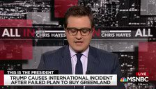 With @chrislhayes about #Greenland. Fact: we've bought other islands from the Danes and have tried to buy this one before too. But why buy when you can rent?