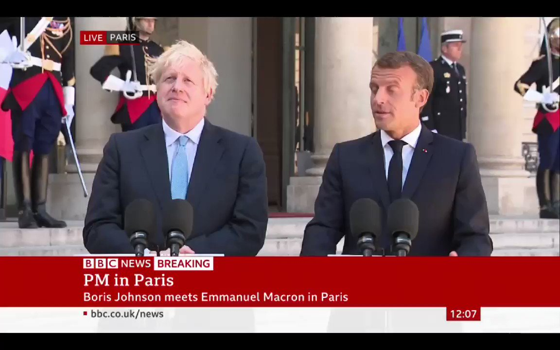 """President Macron - The backstop is not just a technical restraint.. the backstop is a """"genuine indispensable guarantee to preserve stability in Ireland & to preserve the integrity of the single market"""" #RejectBrexit #PeoplesVote"""