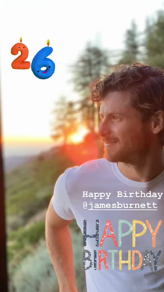 Please join me in wishing a happy birthday to our James , He turns 26 today 🎂. We love you James and wish you the most wonderful year ahead ❤️ #jamesburnett #littledume  @BurnettMusicGrp