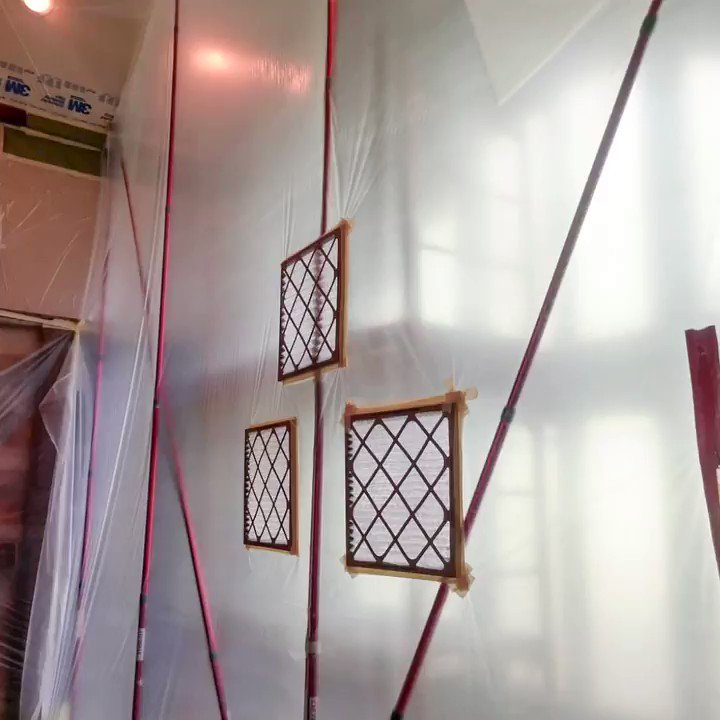 Image for the Tweet beginning: Cool installation of a ZipWall®