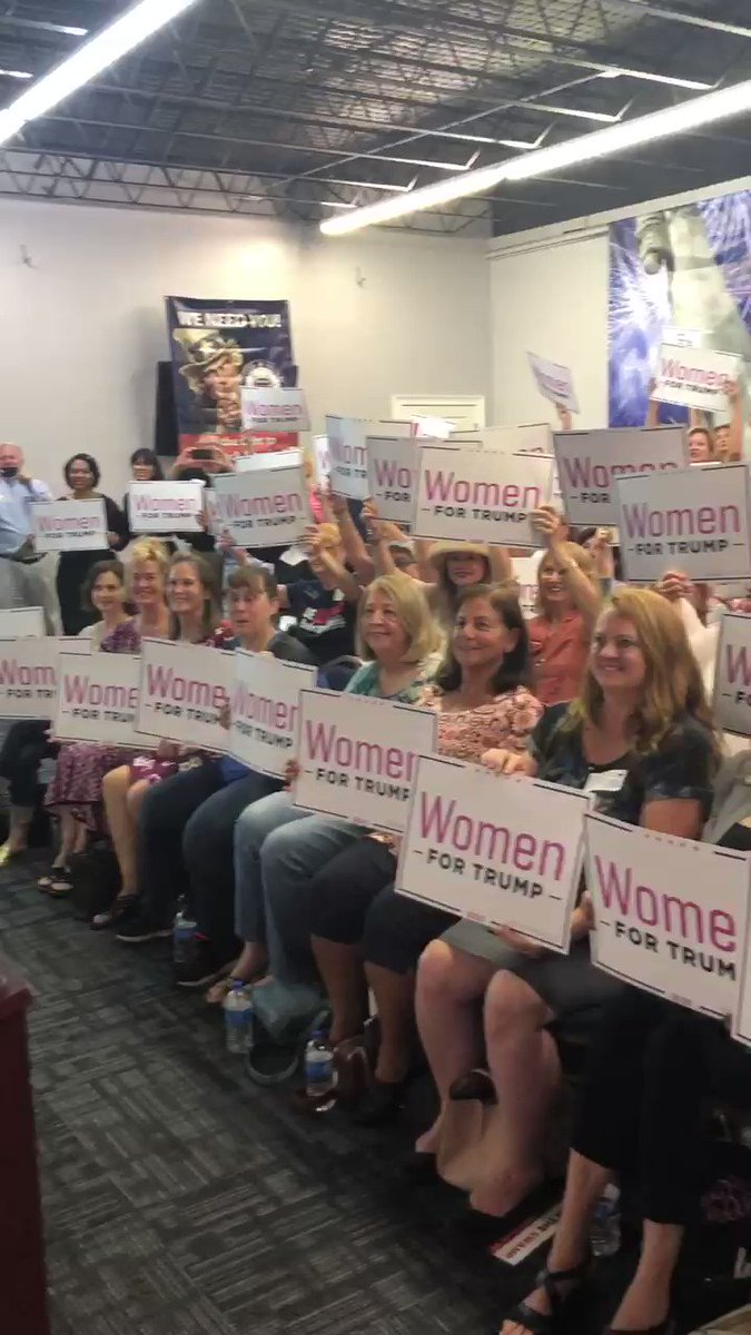 """They really should change these signs to """"White Women for Trump"""""""