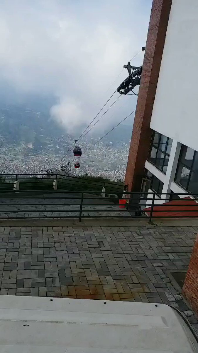 Chandagiri Hills, Kathmandu, Nepal, Cable car ride of 2.5 Km from Thankot to Chandagiri Hills 2520m above sea level is a thrilling experience amidst lush green mountainous terrain. The return journey in absolute darkness was another kind of adventure.#Nepal #India #mountain