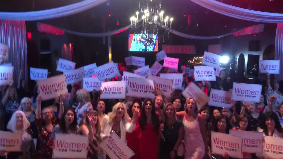 I LOVED being in Nevada last night with so many wonderful and powerful ladies who support our President! 2020 is coming and these ladies are ready to deliver President @realDonaldTrump FOUR MORE YEARS! #KAG2020 #WomenForTrump 🇺🇸