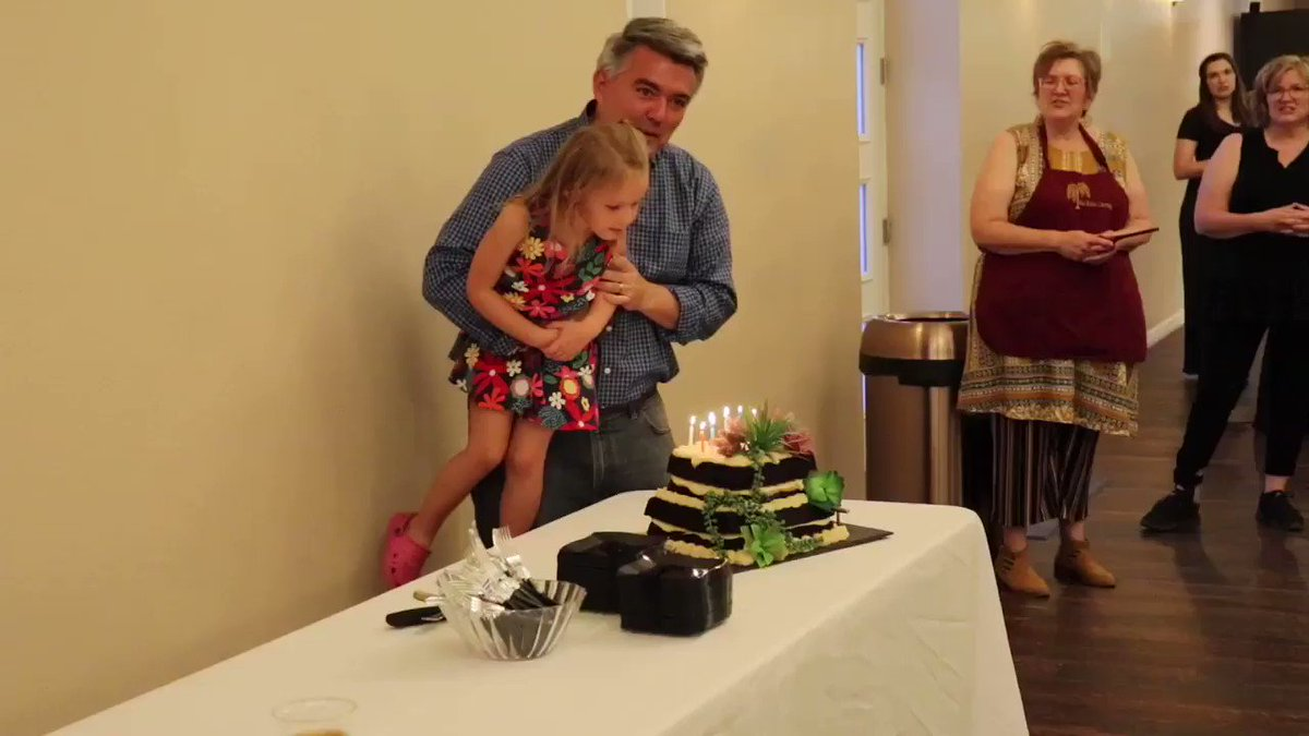 Thanks to everyone for the birthday wishes and especially to Caitlyn for helping me blow out the candles! #copolitics