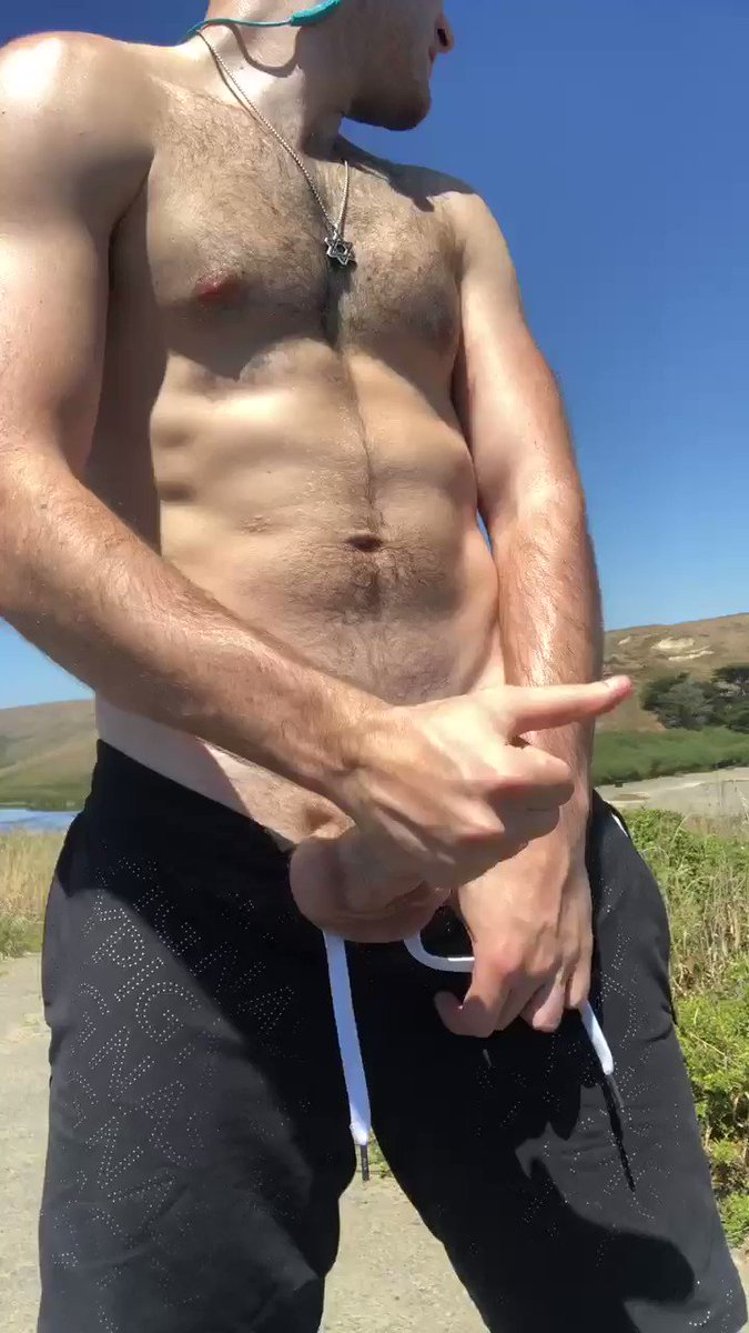 Naughty Jewish Boy 🐽 - I've been getting into some outdoor play lately. Last week, while taking a solo hike along Point Reyes outside of SF, I decided to whip out my sweaty cock and have a quick stroke 😏