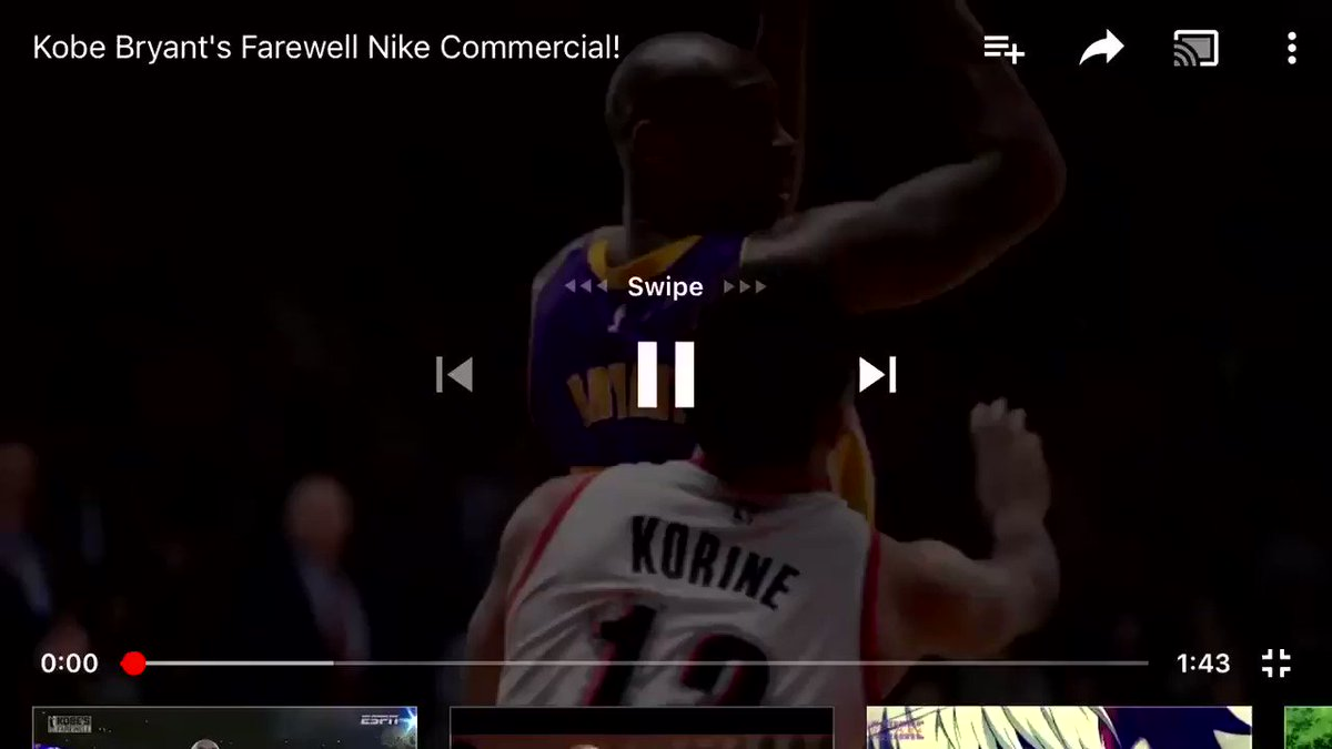 RT @LakerFacts: Kobe Bryant farewell commercial https://t.co/mn3hoVLy3W
