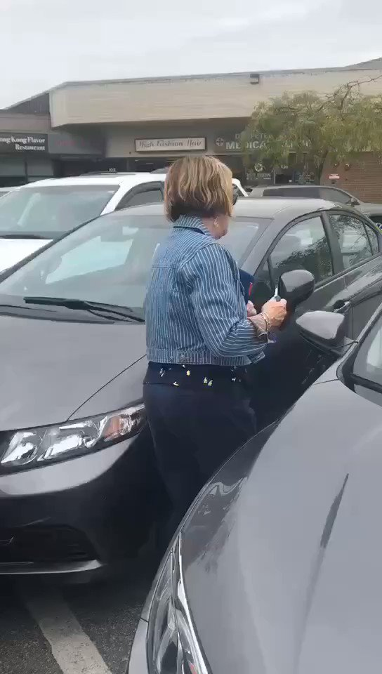 This racist woman wrecked another womans car and drove away, after making racist remarks. Retweet so that we can identify her! 🤬