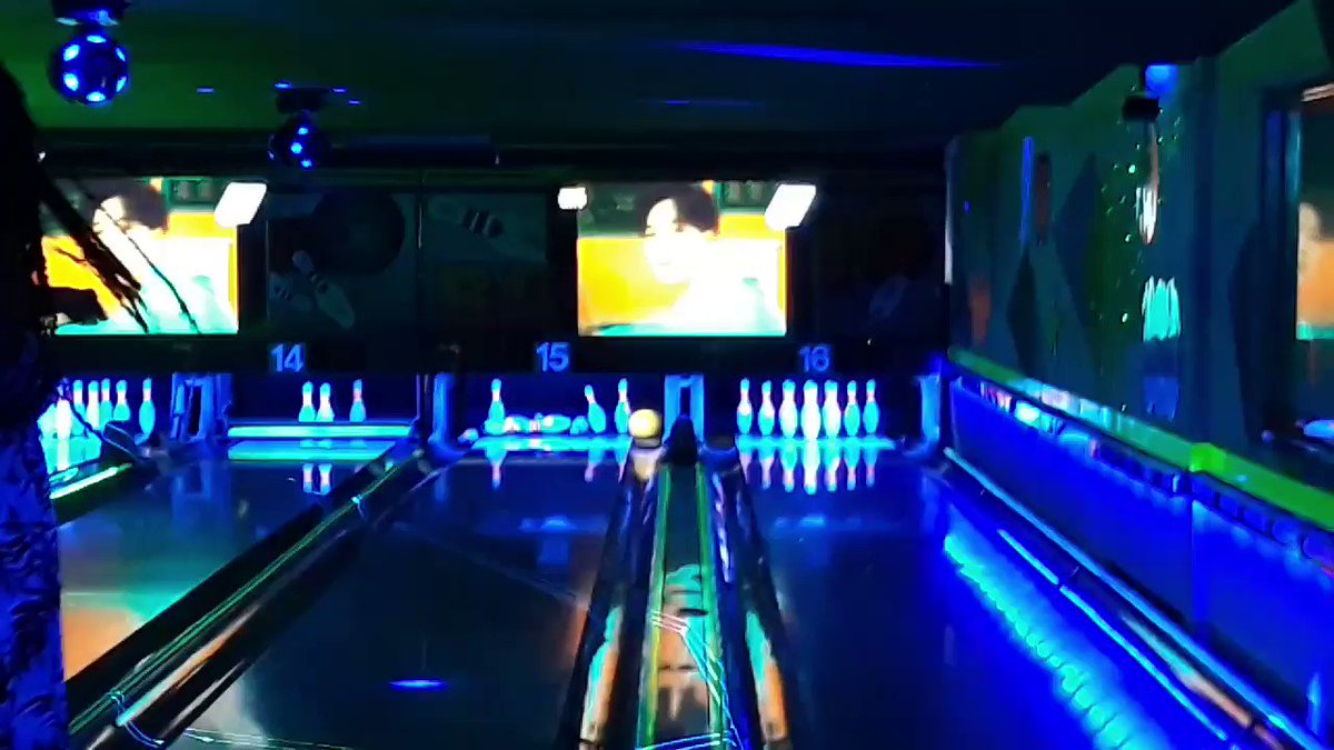 They had Jinu's video at the bowling alley I went to!!! (DO NOT turn on the audio its just yelling that has nothing to do with Jinu lol)