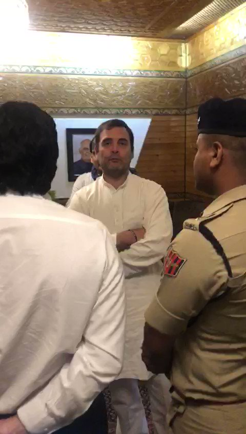 India's opposition leader @RahulGandhi and Co detained at Kashmir airport Says if the situation is being touted by the BJP government as normal, why is he being prevented to meet Kashmiris