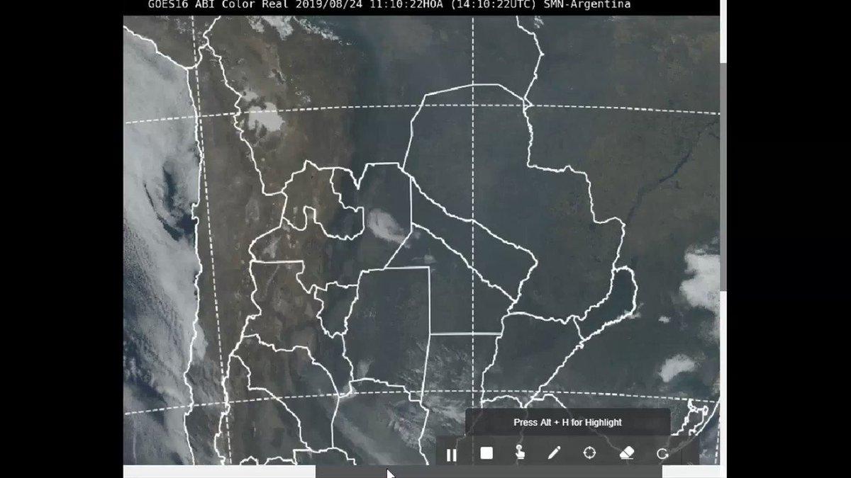 Resultado de imagen para Estamos monitoreando el ingreso de humo liberado por los incendios del #GranChaco y #Amazonía