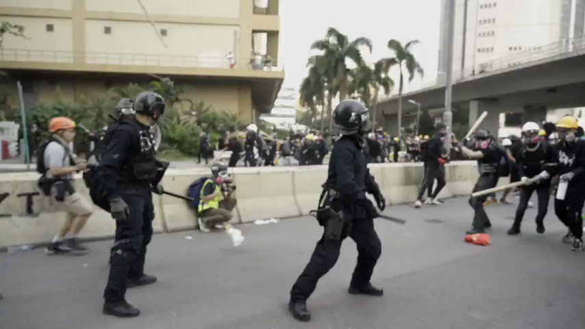 Here is video of the peaceful anti-China protesters in Hong Kong that the corporate media (and US/UK govs) love so much These are more Western-backed moderate rebels, who violently attack the state while the corporate media does propaganda for them