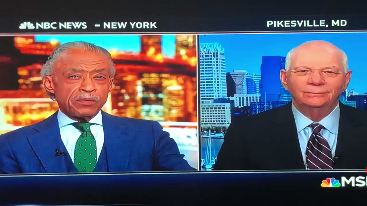I am live with Maryland Senator Ben Cardin, time in to MSNBC. #PoliticsNation