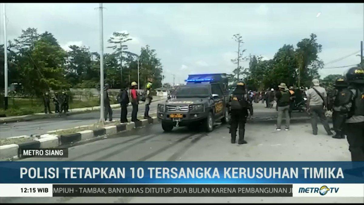 Polisi Tetapkan 10 Tersangka Kerusuhan Timika https://www.metrotvnews.com/s/b3JCoQd9