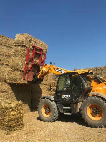Learning to stack safely ! #farming #youngfarmers #harvest19 #bales #Wales #somerset #cambridge