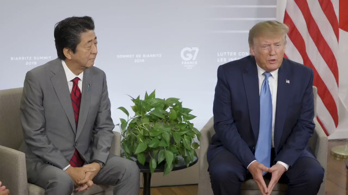 "JUST NOW: President @realDonaldTrump and Prime Minister @AbeShinzo announced a trade deal. ""This is a tremendous deal for the United States. It's a really tremendous deal for our farmers."""