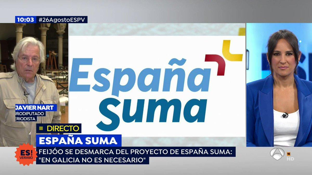 """DIRECTO   #26AgostoESPV  Javier Nart, eurodiputado y periodista, sobre #EspañaSuma  """"Tenemos un ombligismo acentuado en toda la política española y tenemos dos enormes problemas: uno es el #Brexit y otro es la #RecesiónEconómica""""  http://atres.red/c9uag pic.twitter.com/VQTWj5MKXB"""