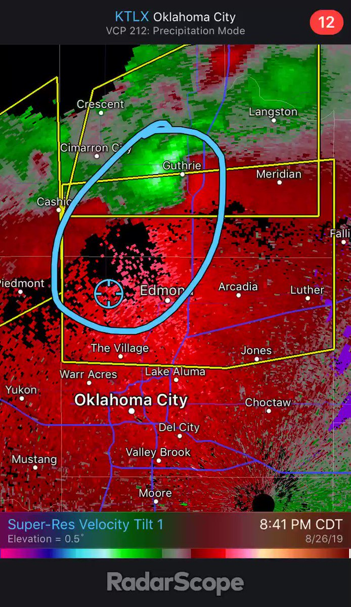 RT @F5Video: Tornado WARNING NW Edmond now. Take cover! @kfor https://t.co/NqW21EXhP9