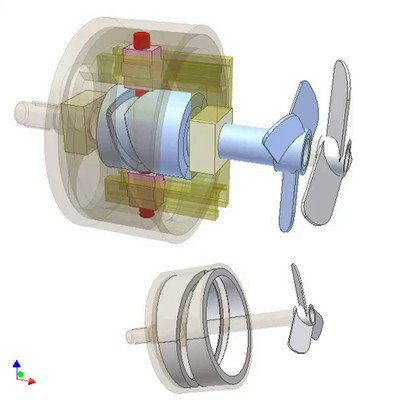 Drive for Coaxial Propellers