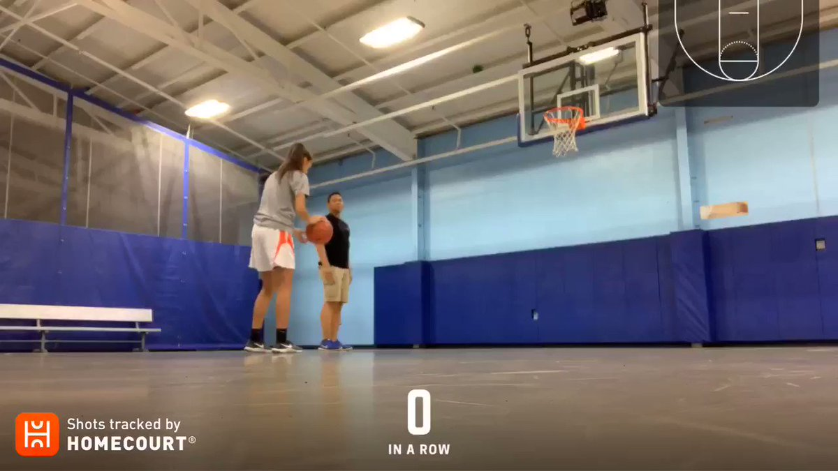 100 makes from the free throw line for @RecintoGabby using the @HomeCourtai app to track shots. Great way to finish the day after a morning volleyball scrimmage. @CoachTinyGreen @BrandScholars #basketball #HardWork #Summer2019 – at Evesham Recreation Center - Blue Barn