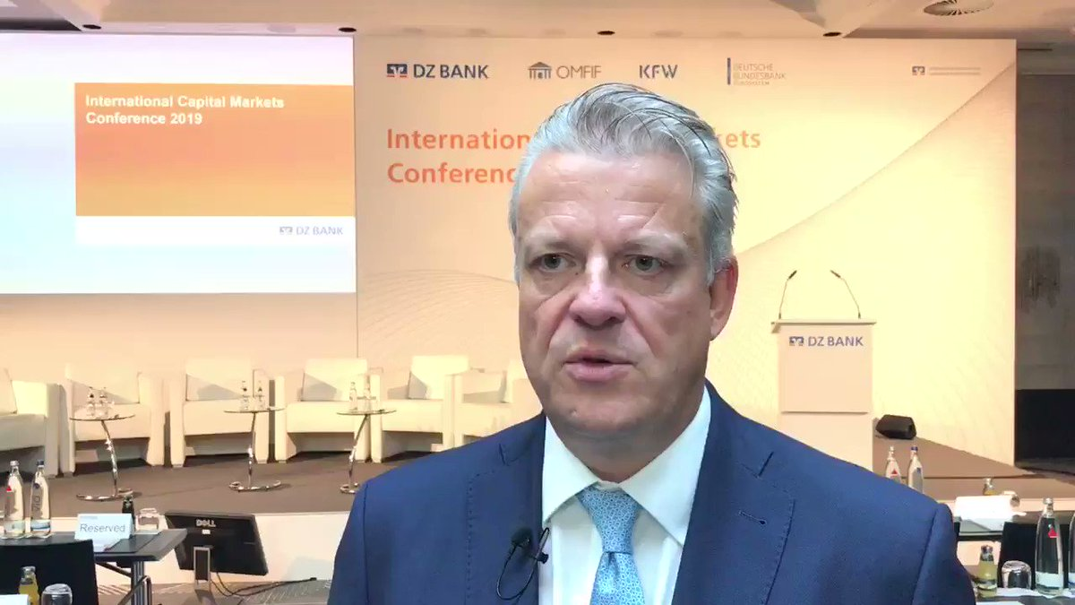 Dz Bank Ag On Twitter Welcome To Icm Conf19 Kicking Off The 3 Day International Capital Markets Conference Dz Bank S Frank Scheidig Highlights The Key Topics Greenfinance Tariffs Trade Low Interest Rates