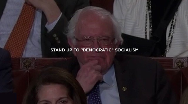 """Stand up to """"democratic"""" socialism.   Under President Trump's leadership, America will NEVER be a socialist country."""