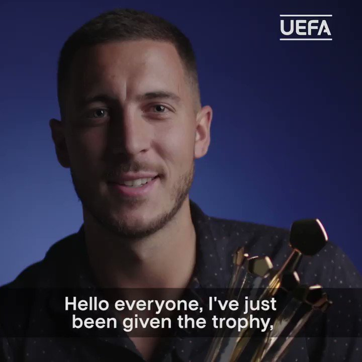 Bravo, @hazardeden10! 👏 The 2018/19 #UEL Player of the Season! 🥳 #UEFAawards | #UELdraw