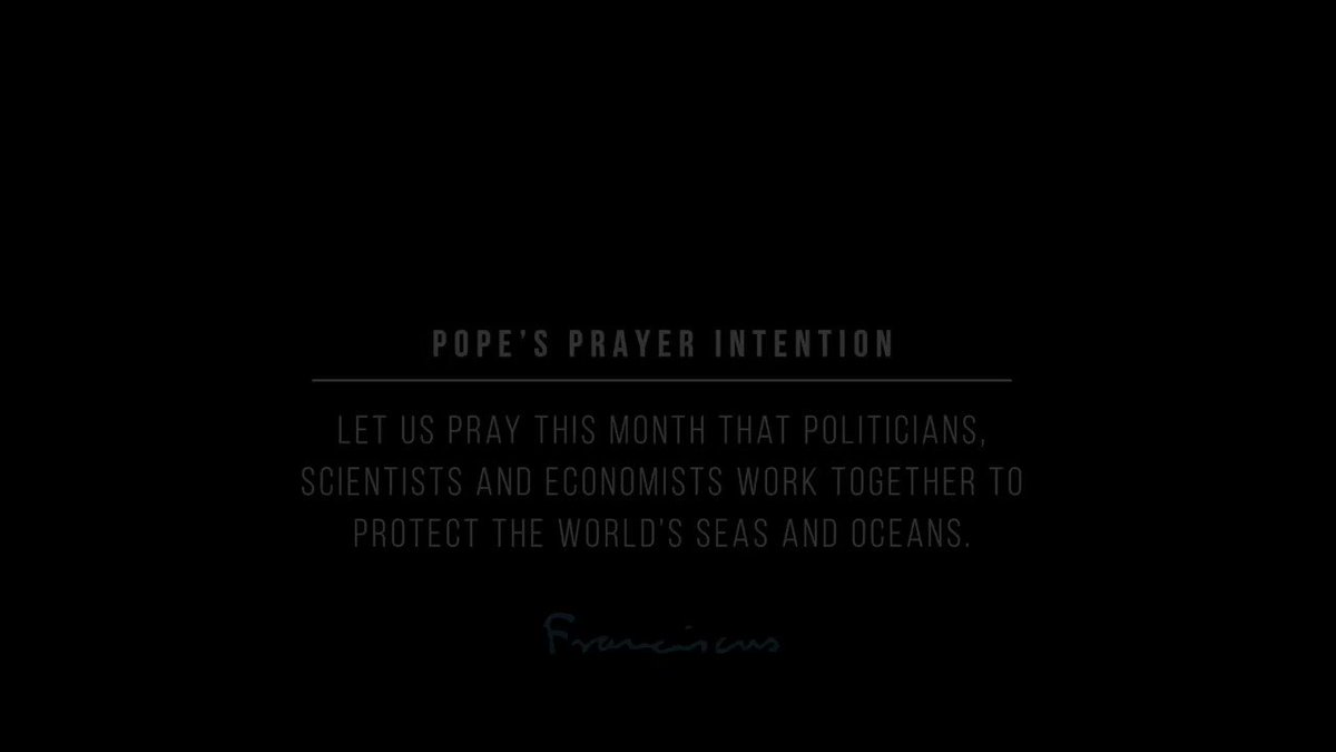 Let's take care of our seas and oceans. @Pontifex is asking it of us, and we all need to do it. Co-creation with @Yann_A_B @GoodPlanet_ - #ThePopeVideo #SeasonofCreation