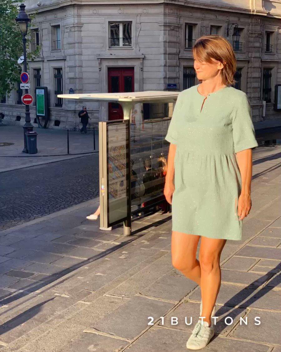 Robe Line 👗 Gaze de Coton tout doux  #unepouleparisienne #robe #gaze #fashionblogger #fashion #fabriqueenfrance #madeinfrance