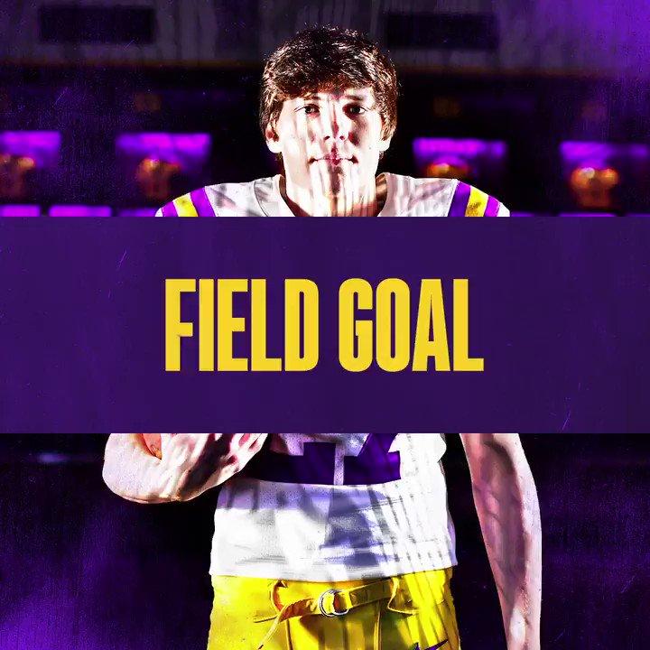 The first true freshman to make a field goal in a season opener in the modern era! That's a 45-3 #LSU lead