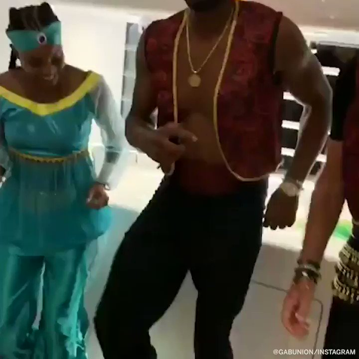 Wade and Gab Union Get Down with Riley