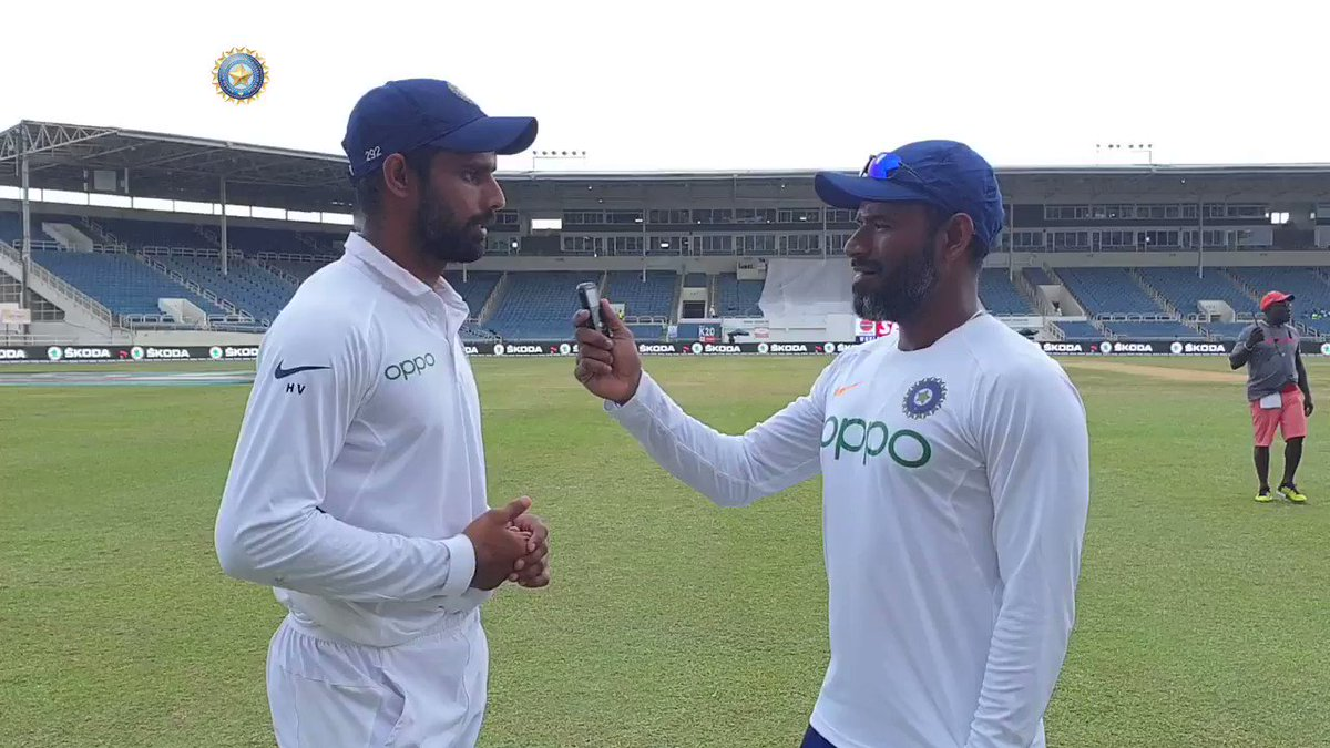I relish playing in pressure situations - @Hanumavihari tells @coach_rsridhar India's fielding coach has known Vihari for a decade and a half. A heartfelt conversation between the two post India's 2-0 series win - by @28anand Full interview 📹📹http://www.bcci.tv/videos/id/7839/i-relish-playing-in-pressure-situations-vihari-tells-sridhar… #WIvIND