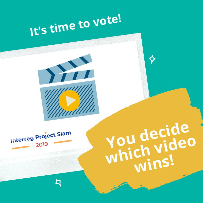 Time is running out to have your say in the #EURegionsWeek Project Slam!  Eight #Interreg projects are seeking your vote as the best video in our social media campaign.  Watch the videos, and vote by liking them, here:  https://t.co/jmaYON0flh