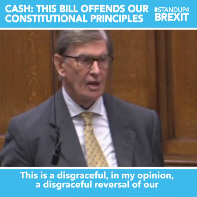 """""""This is a disgraceful reversal of our constitutional arrangements. We have a system of parliamentary govt, not govt by Parliament, and that's a fundamental constitutional principle. This bill offends that principle and that's why I am deeply opposed to its proposals"""" @BillCashMP"""