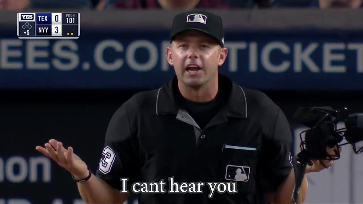 Chris Woodward and Lance Lynn are confused why the umpire keeps taking balls out of play. Good miscommunication with the ump and Lance at the end.