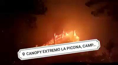 Incendió en La Picona Campamento Olancho