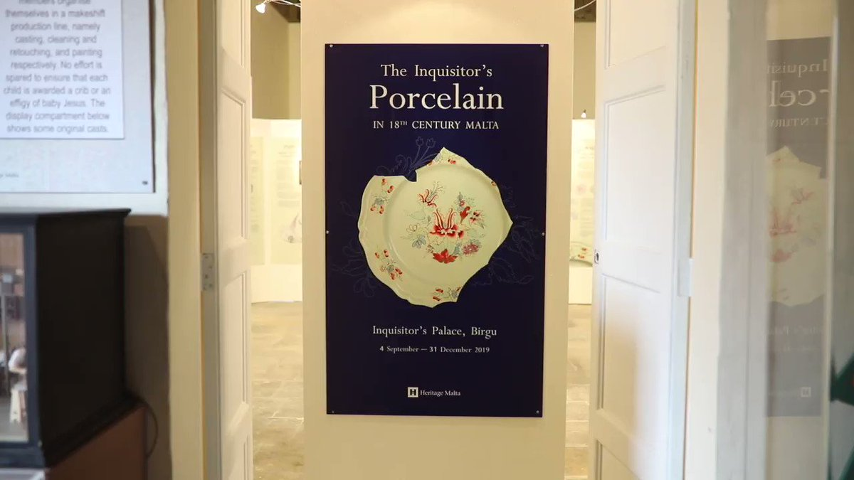 Check out this new exhibition at the Inquisitors Palace on porcelain in the 18th century - you can visit this museum free of charge thanks to Heritage Maltas Senior Passport and Student Passport. Committed to make our heritage more accessible #culturematters @OwenBonnici