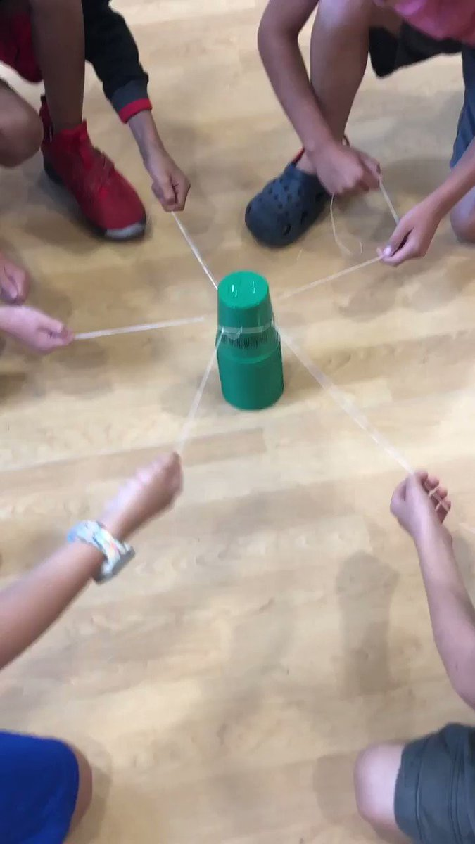 3rd graders working cooperatively to build a cup tower. They cannot touch the cups with any part of their body! <a target='_blank' href='https://t.co/bAUlpFcTQ4'>https://t.co/bAUlpFcTQ4</a>