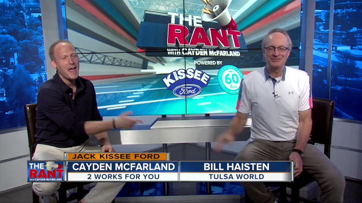 I now realize this was a poorly executed dab attempt 😅😂 @KJRH2HD.                                       Check out @billhaisten, @caydenmc, and myself on The Rant as we talked #JalenHurts #SpencerSanders & TU football!