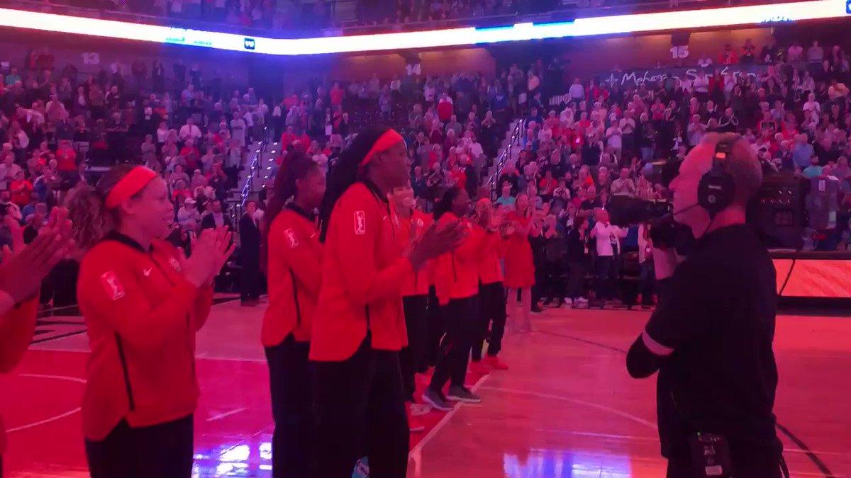 Bigger than basketball.   The WNBA is a family.   Thank you, @wnbachicagosky. ❤️