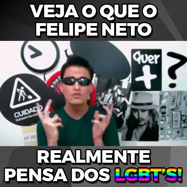 O Felipe Neto, hoje, quer posar de herói LGBT.  Mas alguém se lembra de como ele começou a carreira de youtuber? 😉 https://t.co/spmuka5B65