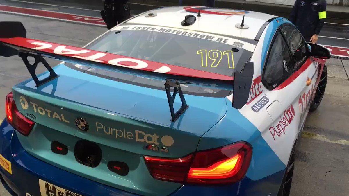 Another wet @vln_de Quali begins in the #191 BMW M4 GT4. Race start 11.00am UK Time,  Follow live timing in the SP10 class at: https://t.co/FxwFqEgTeG #TeamBTR #VLN