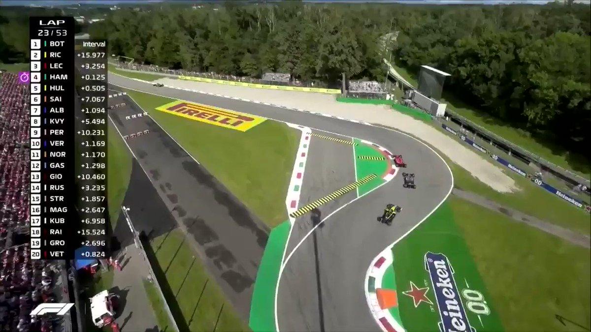 Formule 1 GP Italië: Gevecht tussen Leclerc en Hamilton