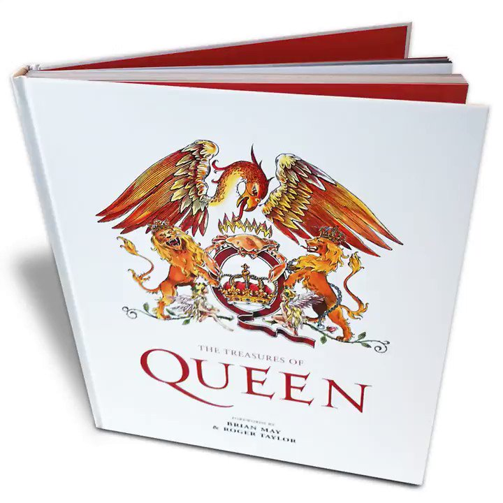 Out now - The Treasures of Queen! The book showcases the band, it's members, recordings and concerts through images and unique pieces of memorabilia from Queens private collection! 📸⬇️ queenonlinestore.com/Queen/Books/Th…