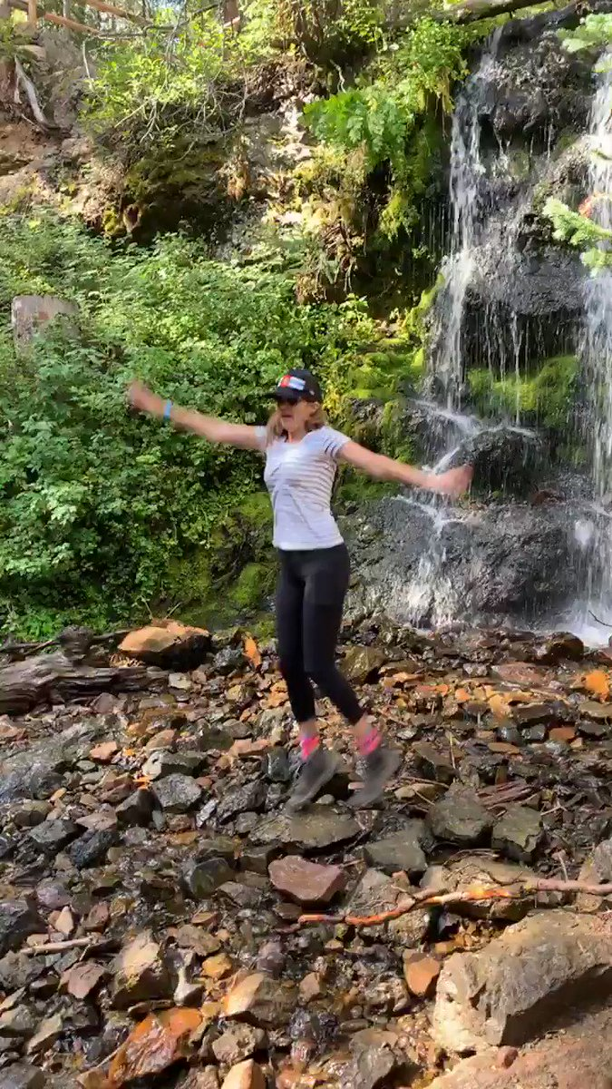 Yippee! Waterfalls! @campchiefouray @YMCARockies #waterfallhike #womensadventurecamp #optoutside